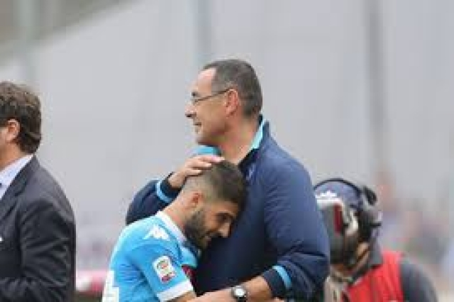 Sarri and Insigne  in 2017