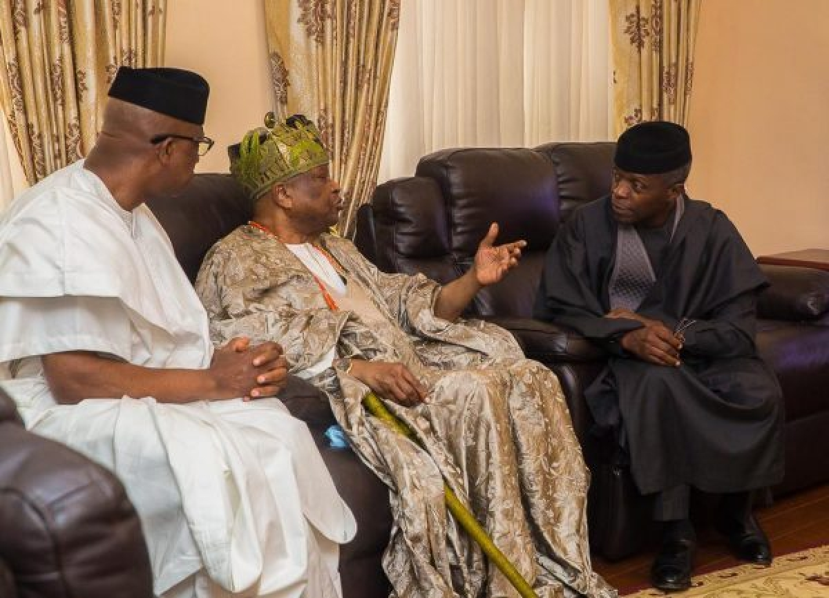 Yemi Osinbajo Meets With Traditional Rulers Over Security Issues