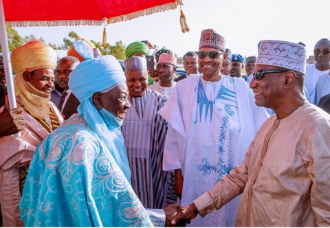 Buhari, others at the praying ground