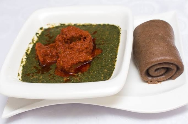 Amala and Ewedu soup