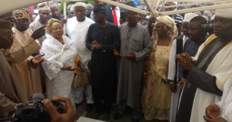 Tinubu Makes Surprise Appearance At The Burial Of Banire's Mother