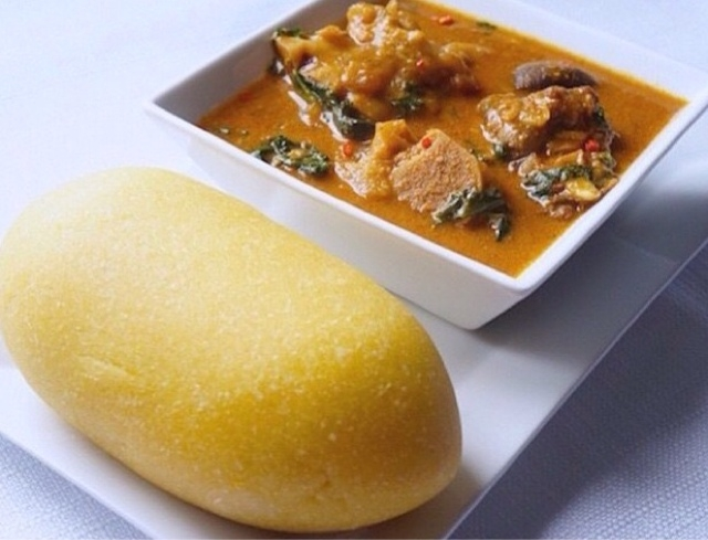 Ogbono Soup and Eba