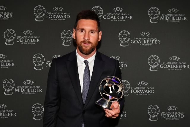 UEFA Awards: Lionel Messi Voted Champions League Forward Of The Season