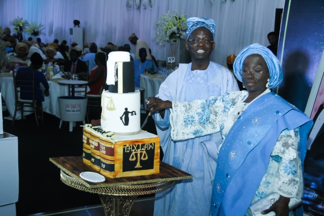 The celebrant and wife