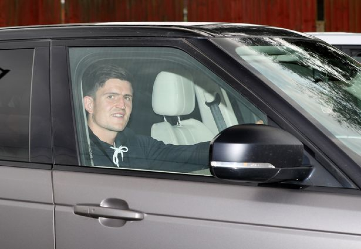 Maguire Drives Out Of Carrington After Completing Man Utd Medical