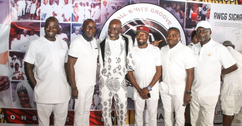 Catch The Glitz And Glamour Of Lagos Socialite Agboola Odunfa's All White Party  (Photos)