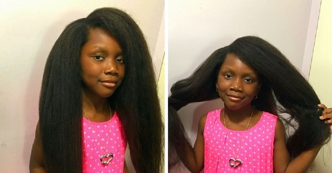 Long beautiful natural hair