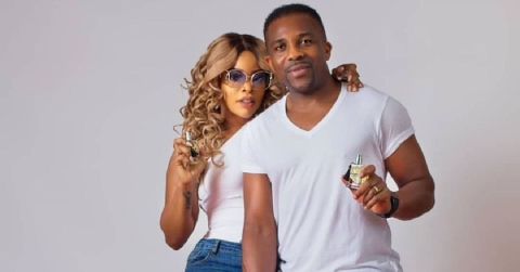 Laura Ikeji and husband