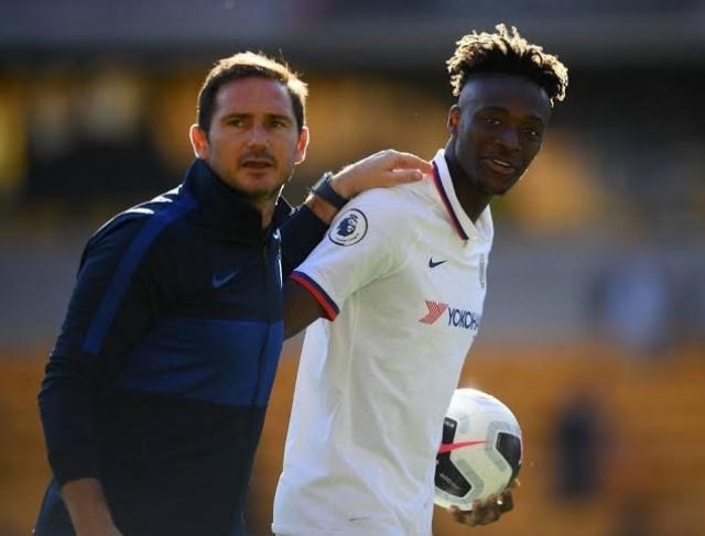 Lampard and the young Tammy Abraham