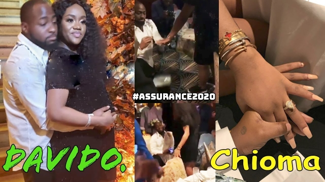 Davido Finally Proposes To Chioma, Reveals Her Baby Bump