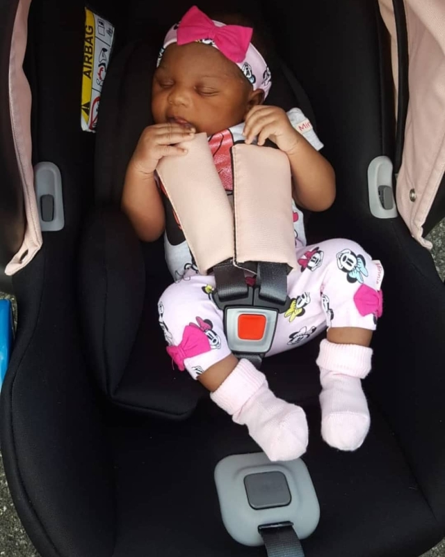 Ubi Franklin's 4th Baby Mama, Sandra, Shares Photos Of Their Daughter
