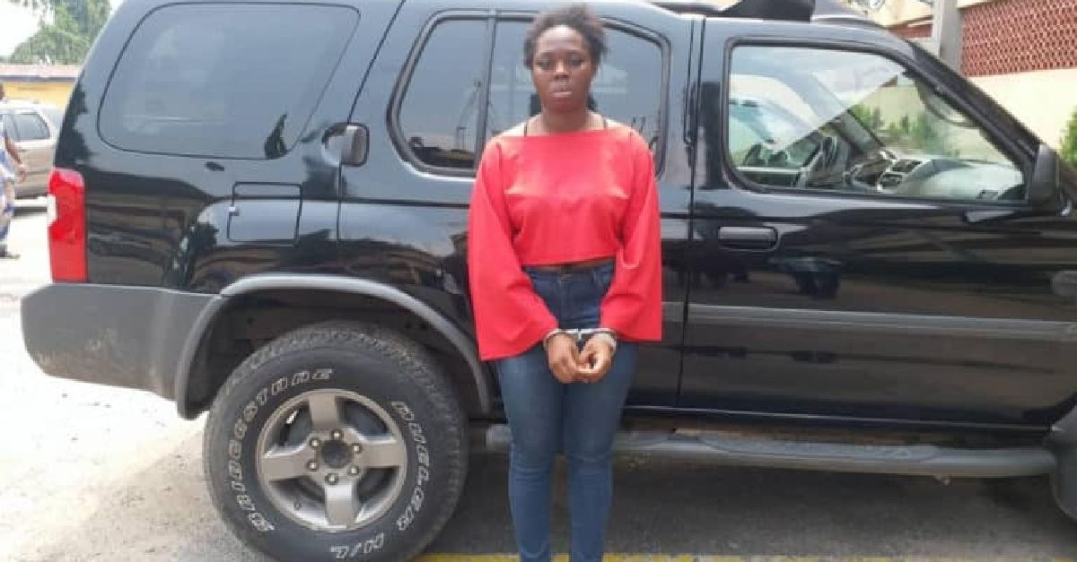 Lady Who Escaped With Lover's SUV In Ikeja Arrested