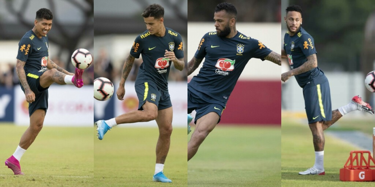Neymar, And Brazil Teammates Train Ahead Super Eagles Friendly