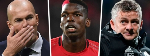 """I Don't Have A Problem With That"" - Solskjaer Says As Pogba Is Pictured With Real Madrid Boss Zidane"