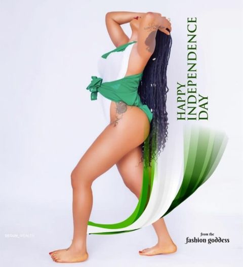 Toyin Lawani Celebrates Nigeria's Independence With Raunchy Photos