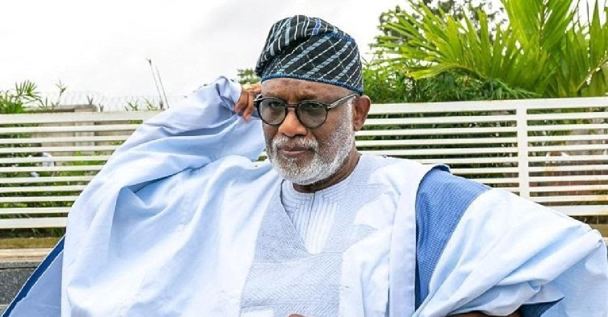 Akeredolu Presents Staff Of Office To The New Olowo Of Owo