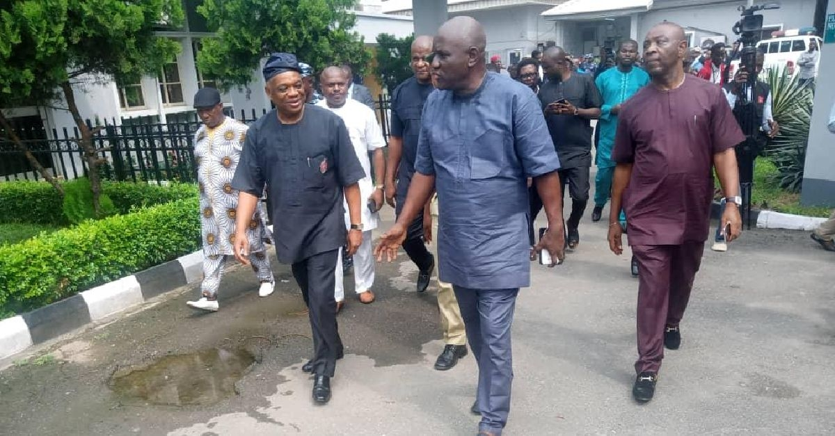 Kalu leaving the court amidst tight security