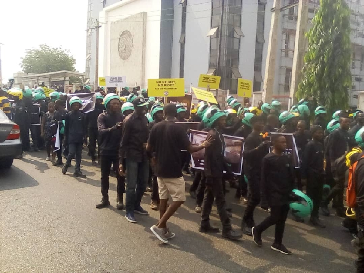 Okada Riders Protest Ban By Lagos Government