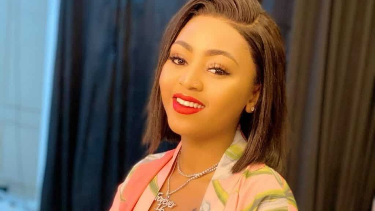 Regina Daniels Gifts Sister With iPhone 11 Pro For Her Birthday