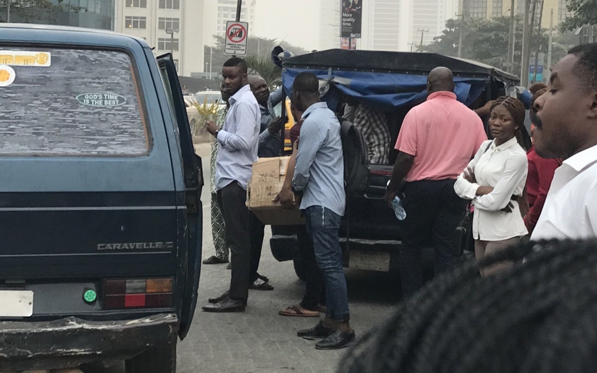 Police Van Spotted Loading Passengers In Victoria Island