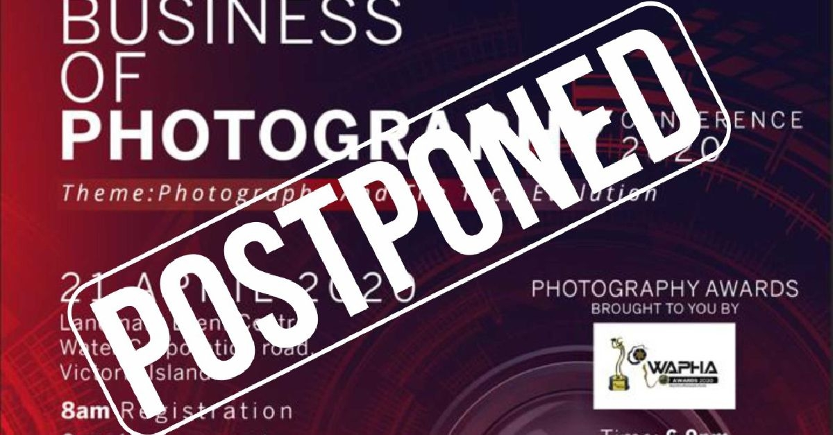 The Business Of Photography Conference Postponed
