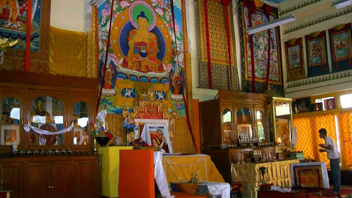 The walls of the Tabo Monastery are adorned with various forms of Buddhist art