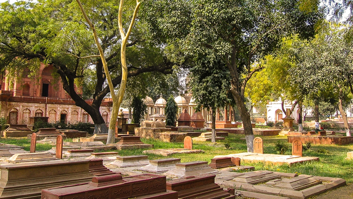 The Roman Catholic cemetery in Agra
