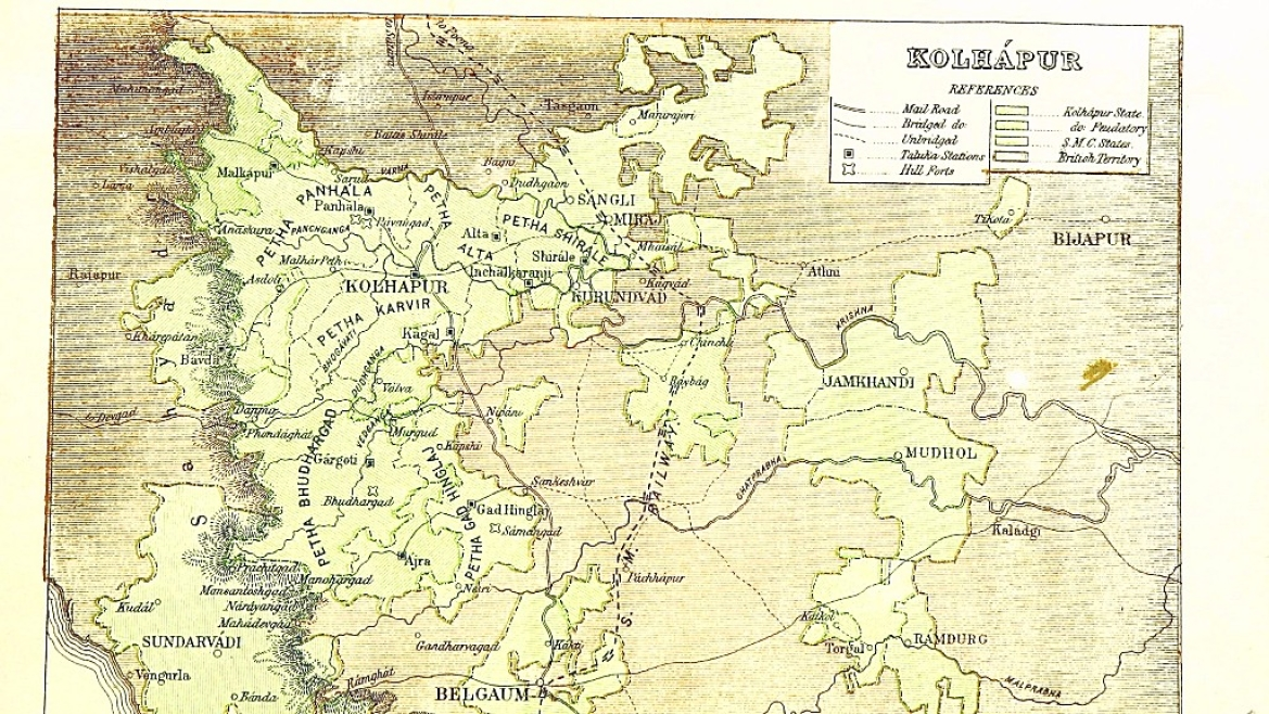 Map of Kolhapur in 1896