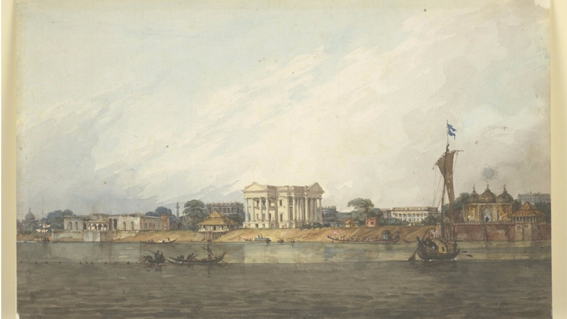 Watercolour painting of Murshidabad by Robert Smith  circa 1814-1815