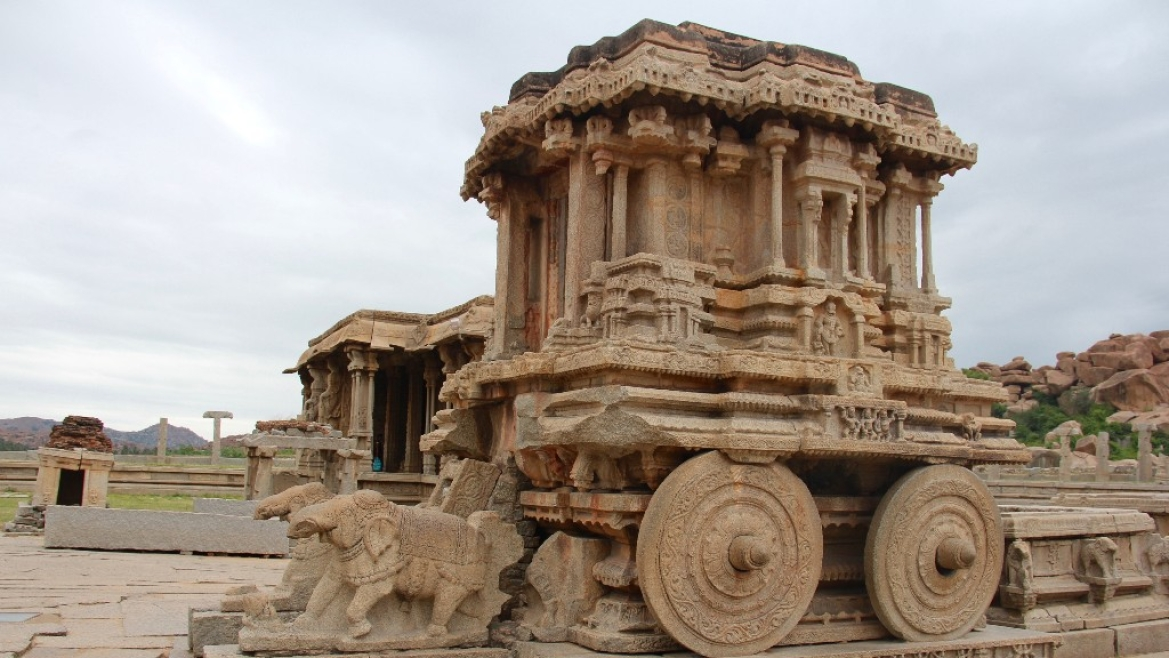 The stone chariot at the Vithala temple complex
