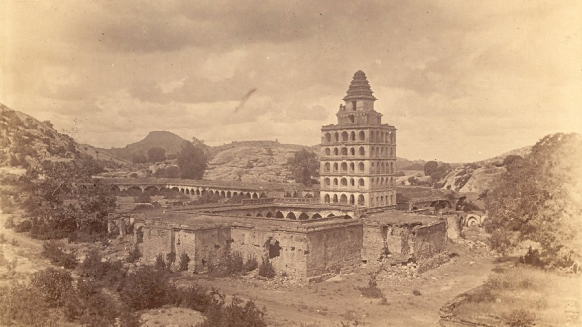 The Kalyana Mahal Gingee fort in 1890
