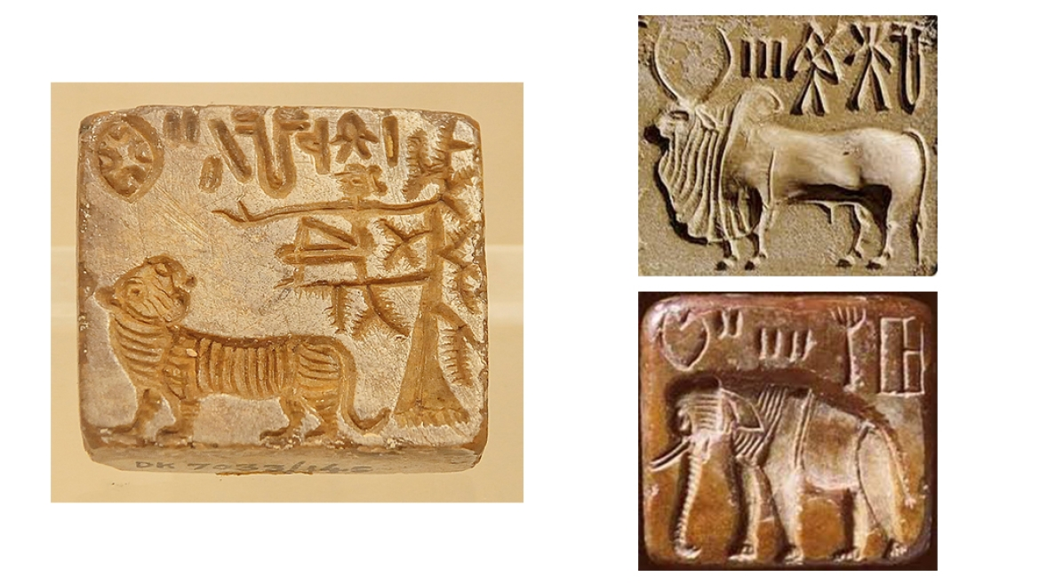 Harappan seals like these were found at Lothal
