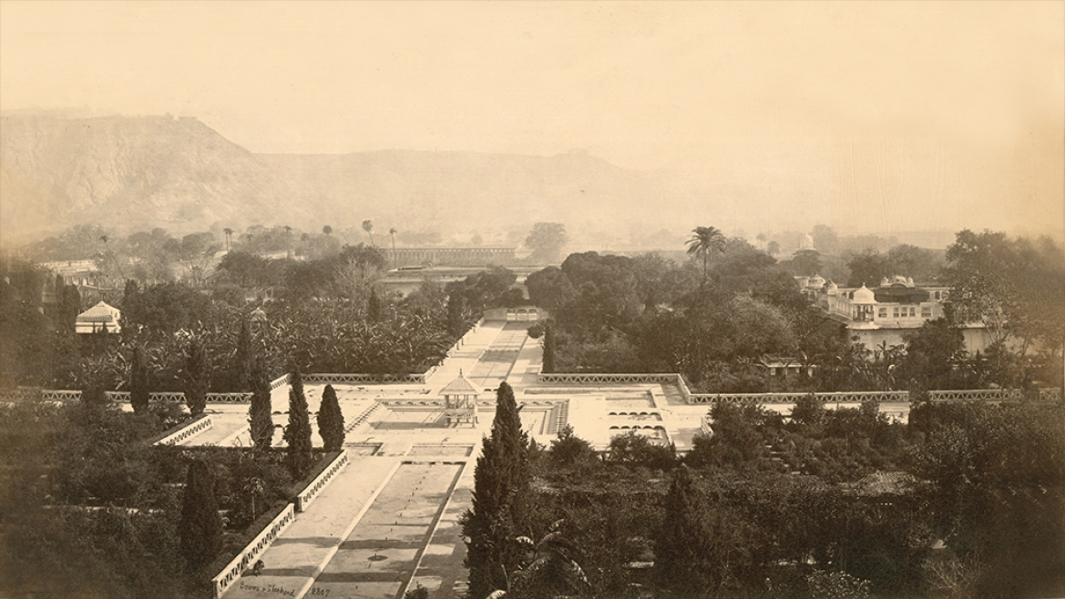 View from Chandra Mahal by Bourne and Shepherd circa 1875 CE