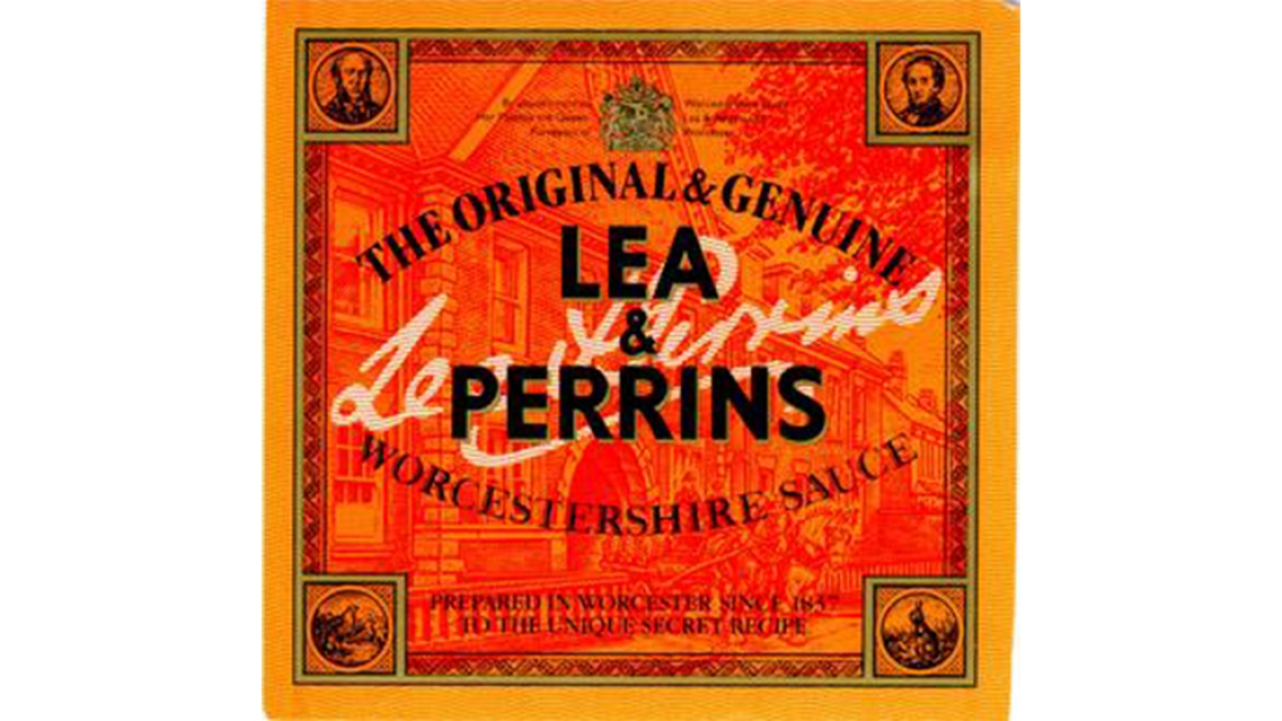 Packaging of  Lea and Perrins Worcestershire Sauce