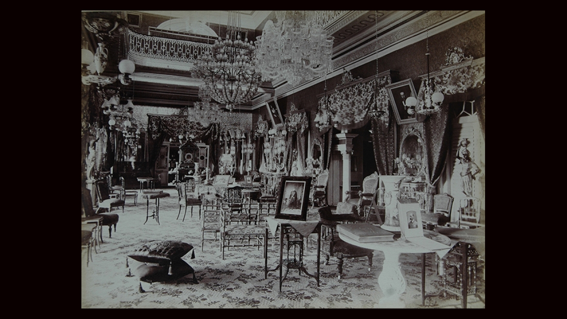 Interior of the Bashir Bagh Palace, Hyderabad