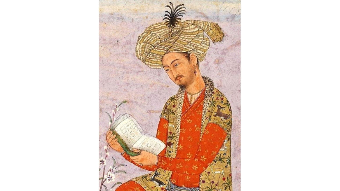 A painting of Babur