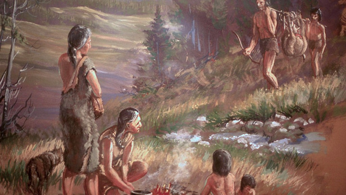 Illustration of early human settlement