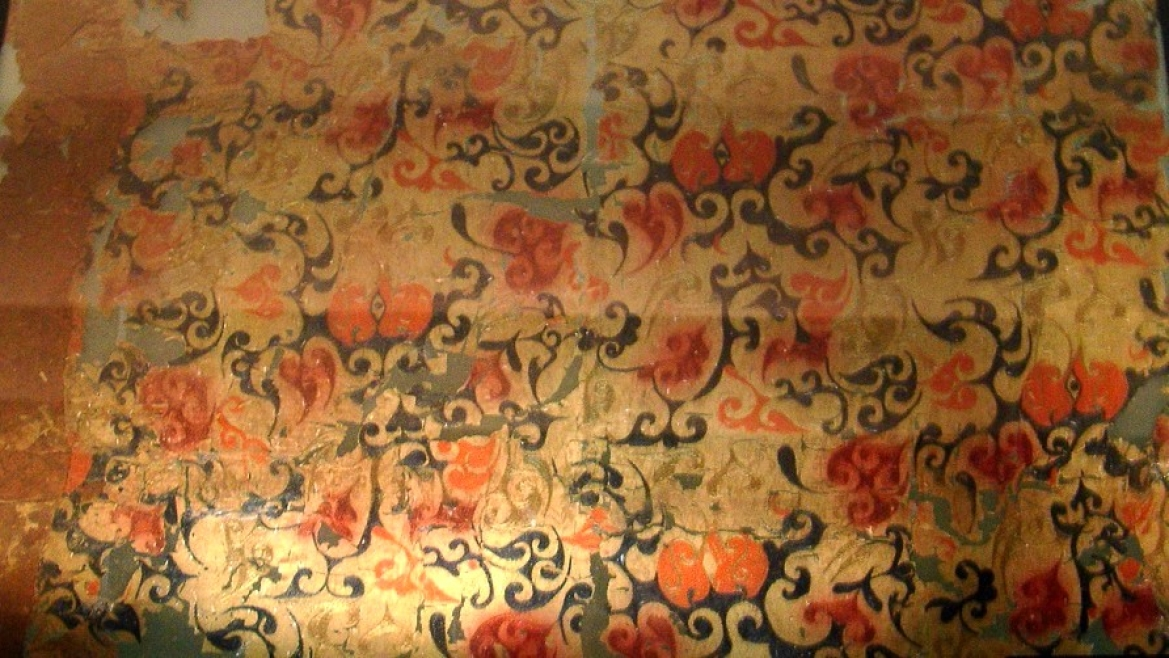 Woven silk textile found in a tomb from the western Han dynasty (2nd century BCE)