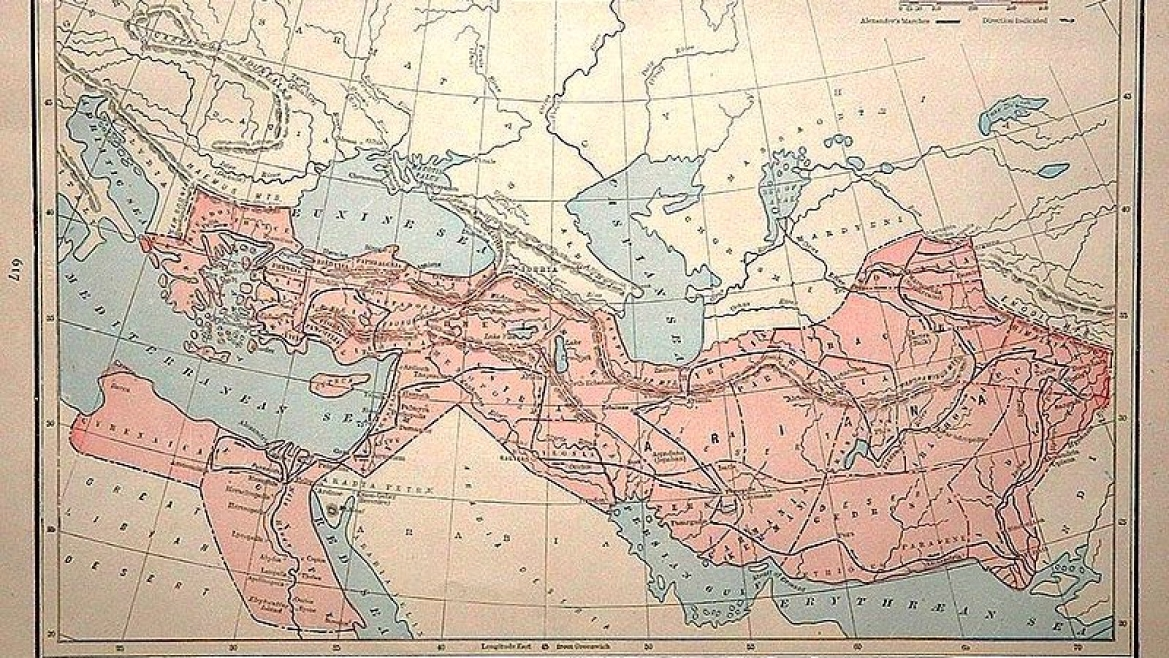 Map of the Empire of Alexander the Great at the time of his death in 323 BCE