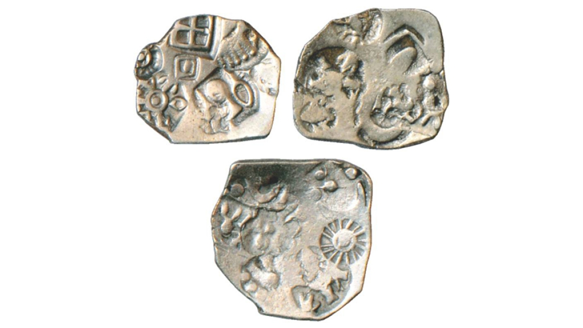 Coins of Magadha Janapada with 5 punches