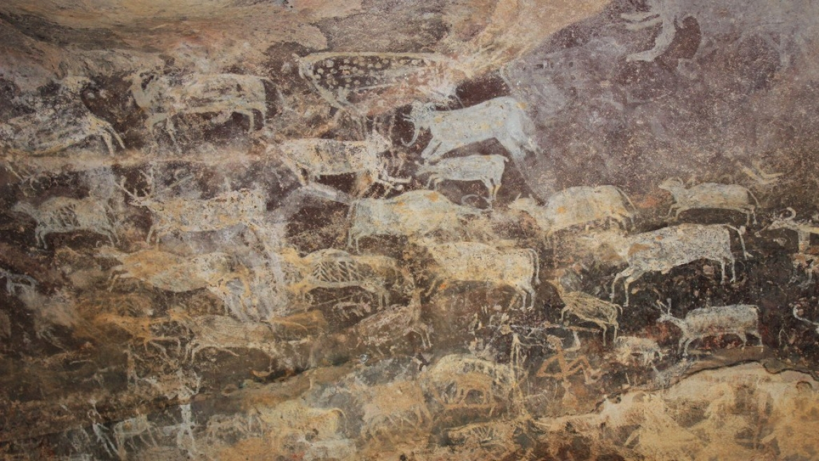 Cave Painting from Bhimbetka