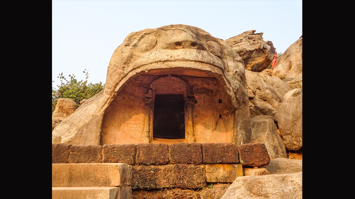 Front view of Bagha Gumpha