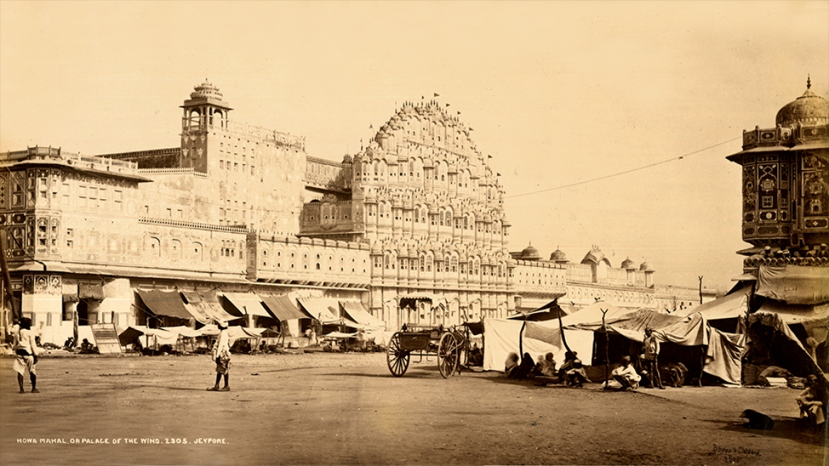Hawa Mahal or Palace of the Winds by Bourne and Shepherd circa 1885 CE