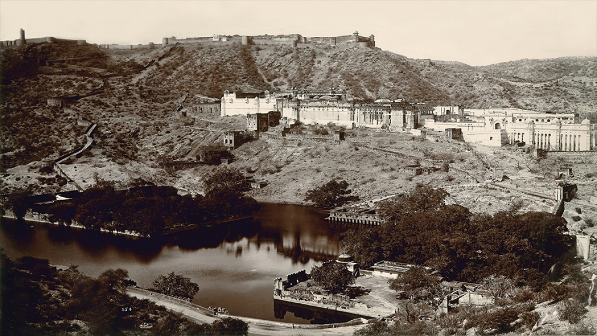 Amber Fort and surroundings by Govindram Oodeyram circa 1880 CE