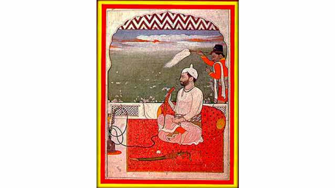Portrait of a King in <i>Pahari</i> (Kangra) style