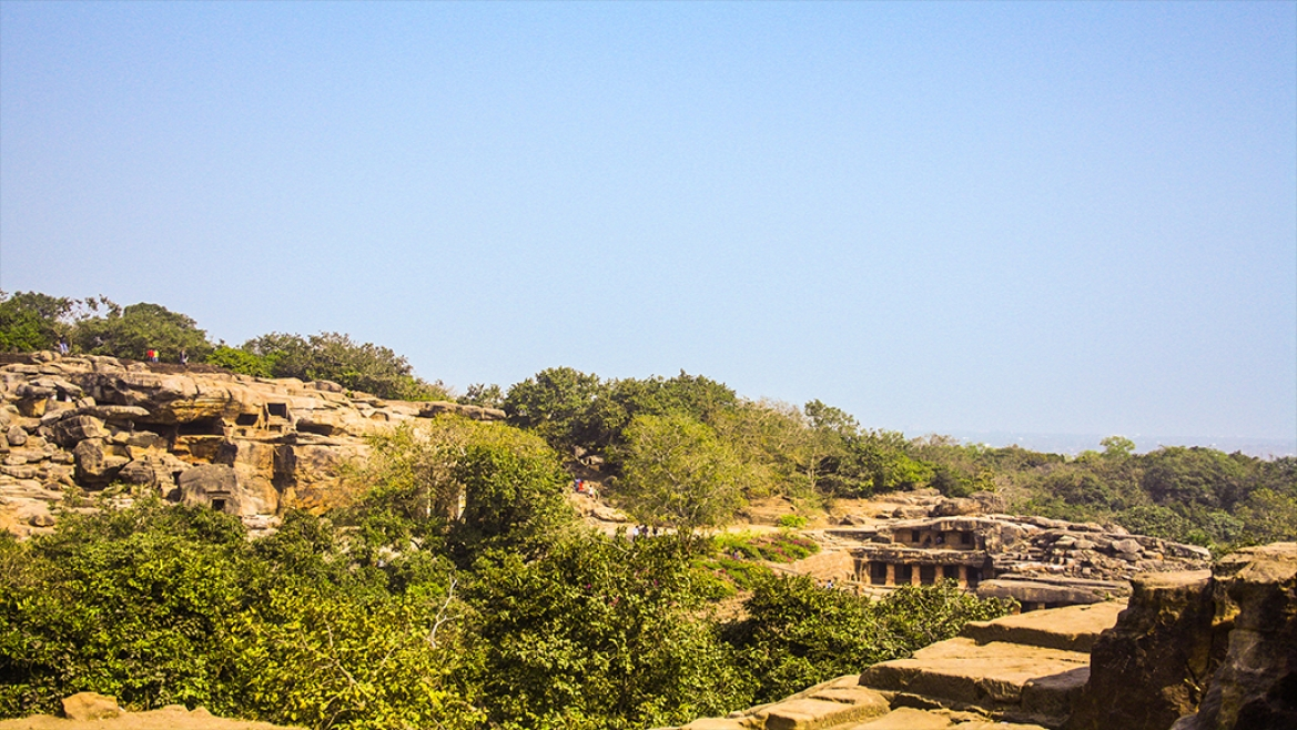 Rock cut caves of Udayagiri and Khandagiri hills