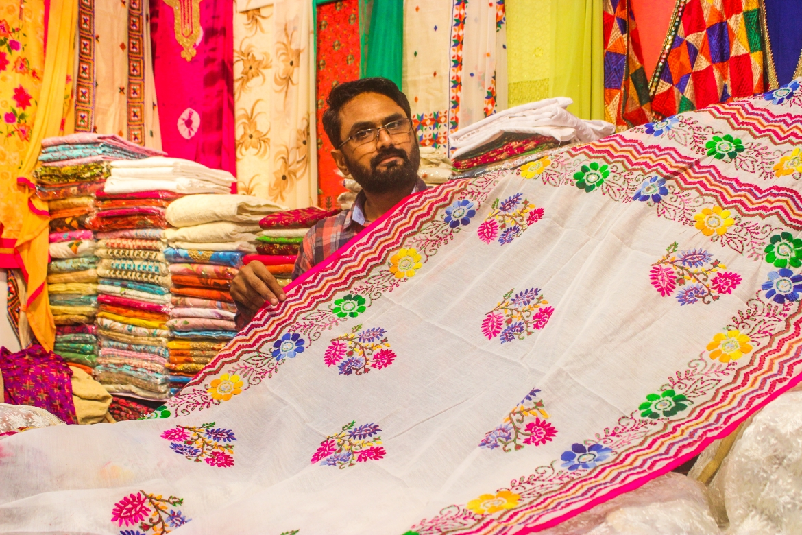 <i>Phulkari</i> is a popular weave even today