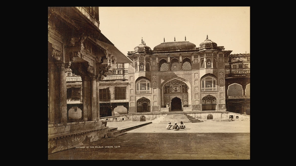 Entrance to Amber (Amer) Fort by Colin Murray for Bourne and Shepherd circa 1885