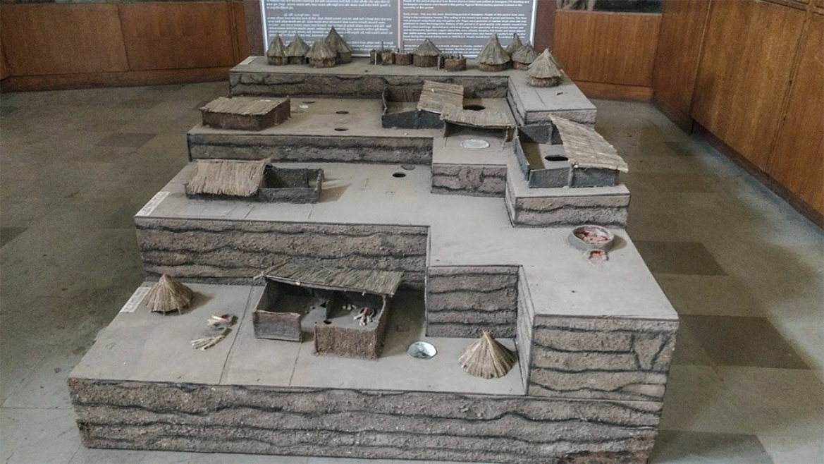 Diorama of Inamgaon Settlement at Deccan College