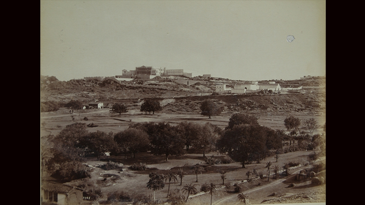 View of the Falaknuma Castle Hyderabad